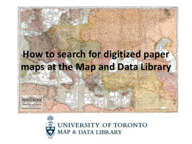 How to search for digitized papermaps at the Map and Data Library
