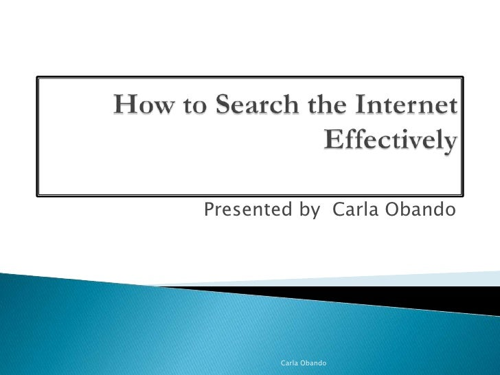 how to search the internet