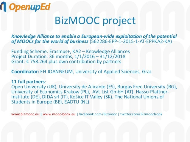 Quality frameworks for MOOCs: How to secure quality of MOOCs in cross-sectoral and cross-institutional teams Slide 2