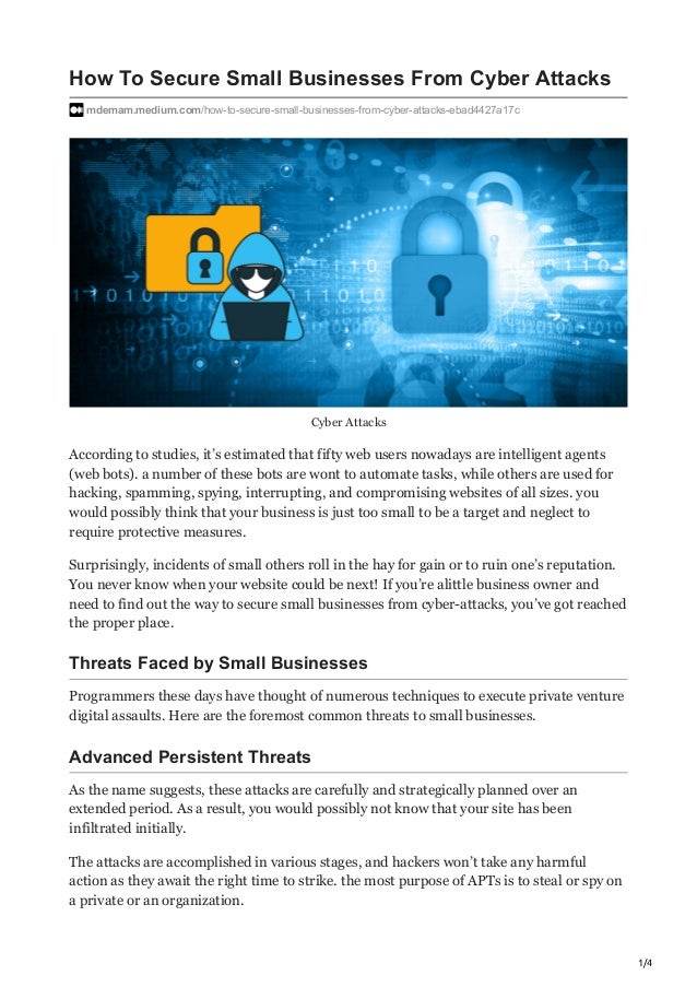 how to secure small businesses from cyber attacks 1 638