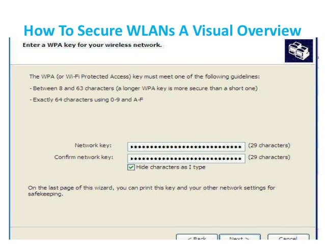 How To Secure WLANs A Visual Overview