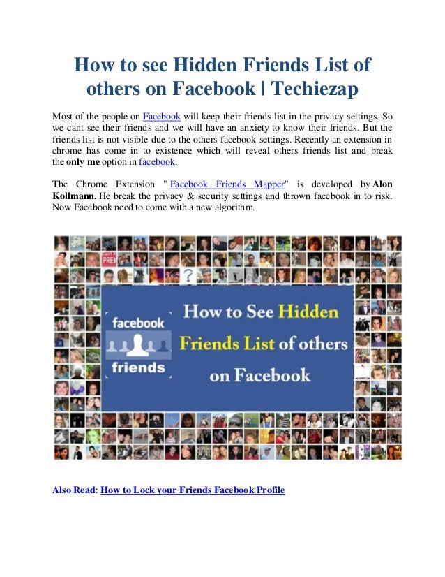 How to see hidden friends on facebook