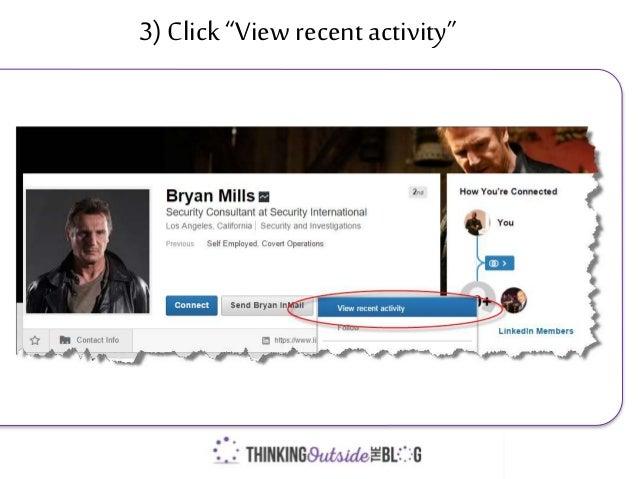 "3) Click""View recent activity"""