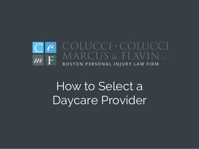 How to Select a Daycare Provider