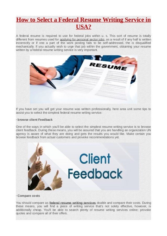 resume writing for federal jobs