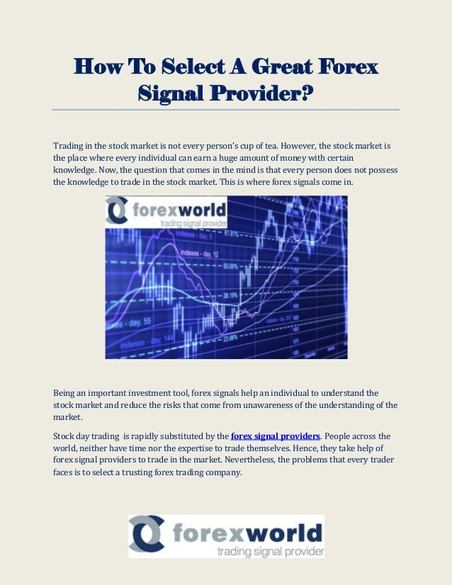 Forex signal provider sms
