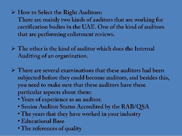 How to select iso certification bodies in uae