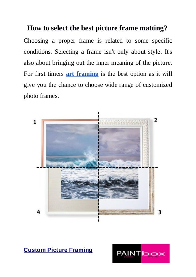 How to Choose Picture Frames