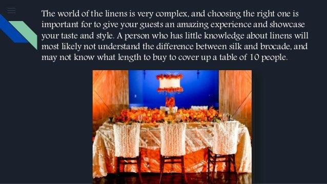 your wedding linen