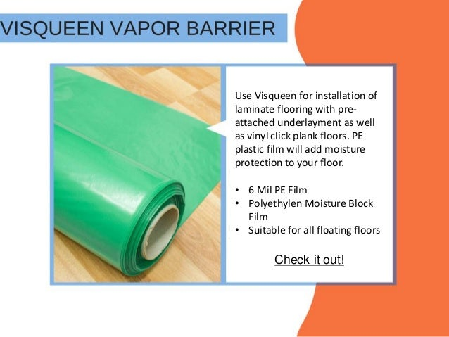 How To Select Underlayment For Laminate Flooring - Moisture barrier for vinyl plank flooring