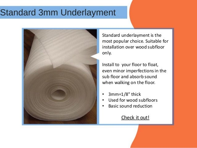 How to Select Underlayment for Laminate Flooring