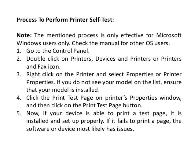 How To Self Test Lexmark Printer At Home