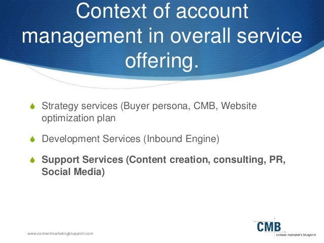 How to sell account management services to inbound clients 8 contentmarketingblueprint context of account management malvernweather Image collections