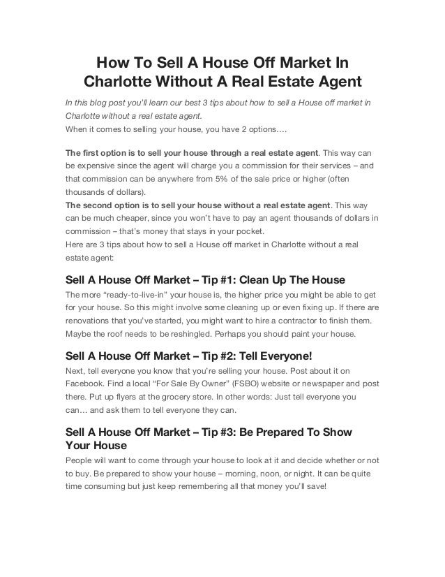 Advertising Your House Privately For Sale