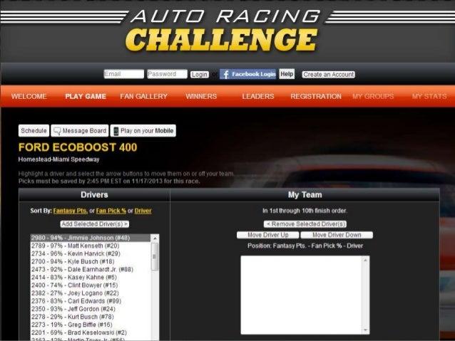FANTASY RACING CHALLENGE  #promotionslab