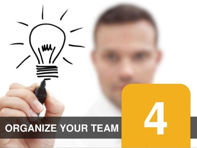 ORGANIZE YOUR TEAM #promotionslab  4
