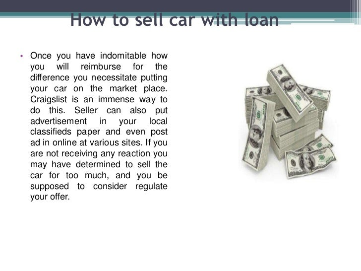 how to sell your car with a loan