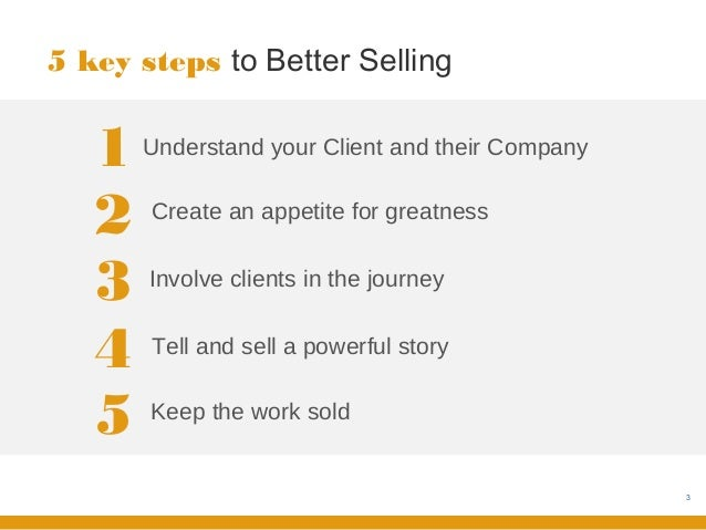 How to sell great work! Slide 3