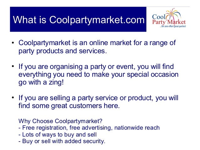 How to sell_on_coolpartymarket Slide 2