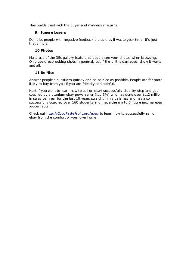 EBAY BUCKS REWARDS PROGRAM TERMS & CONDITIONS