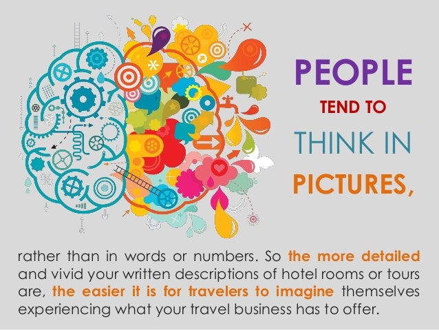 how to sell travel by creating word pictures