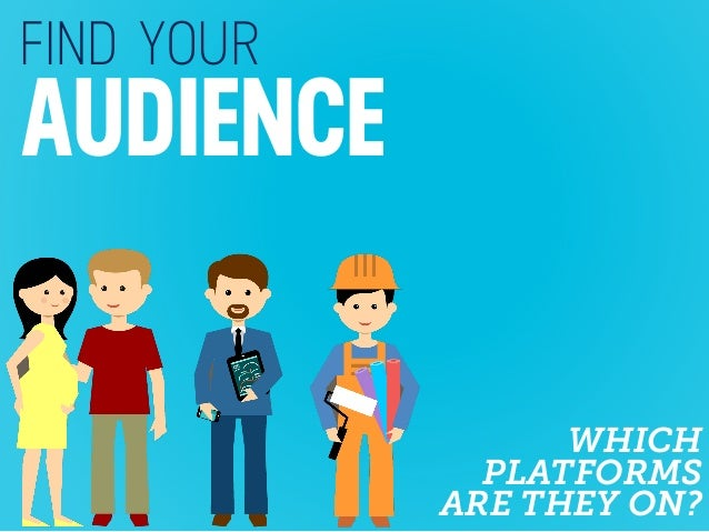FIND YOUR AUDIENCE WHICH PLATFORMS ARE THEY ON?