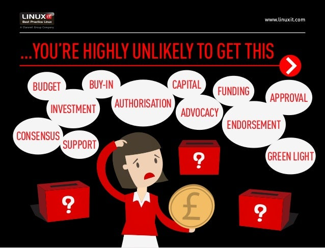 www.linuxit.com ...YOU'REHIGHLYUNLIKELYTOGETTHIS BUDGET BUY-IN APPROVALAUTHORISATION ENDORSEMENT FUNDING CAPITAL SUPPORT G...