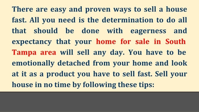 How To Sell Your South Tampa Waterfront Home Fast