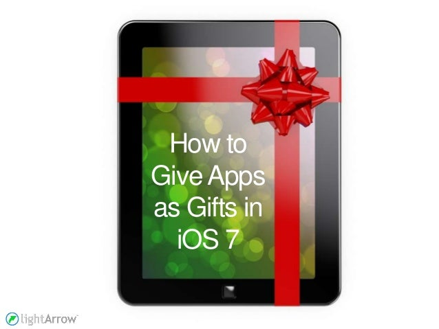 How to Give Apps as Gifts in iOS 7