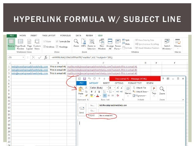 how to send multiple emails from excel spreadsheet