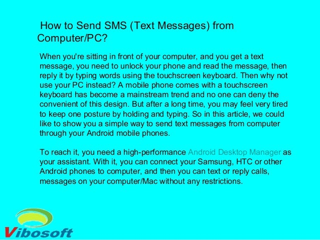 How to send sms (text messages) from computer pc
