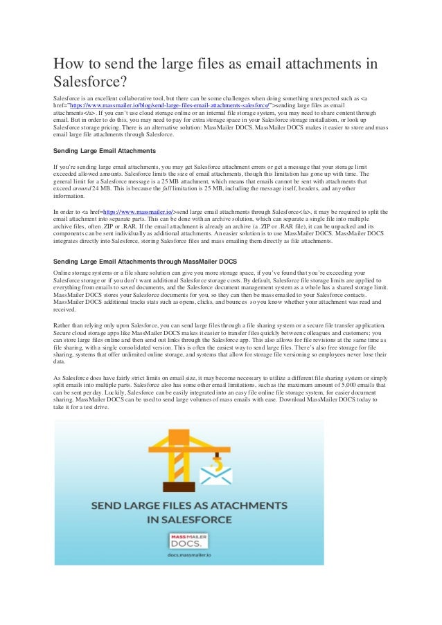 How to send the large files as email attachments in