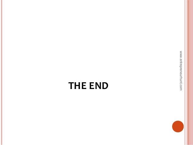 THE END www.entrepreneurhunt.com