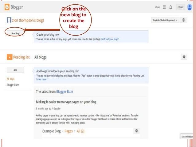 www.entrepreneurhunt.com Click on the new blog to create the blog