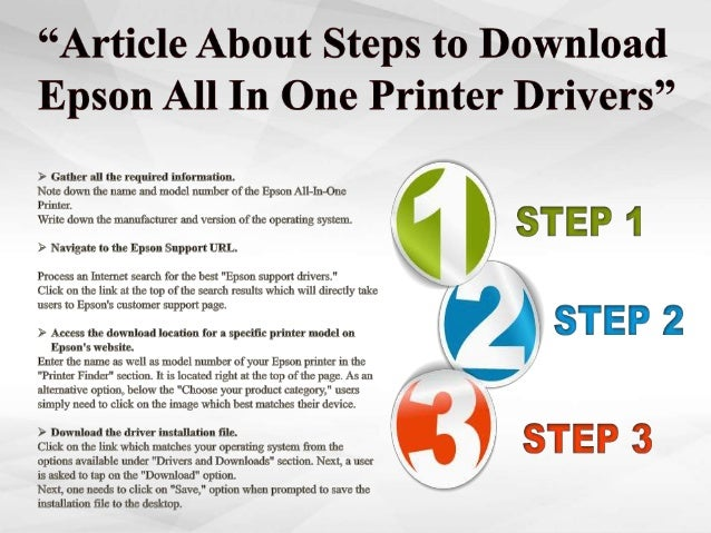 How to download Epson All In One Printer drivers?1-800-213