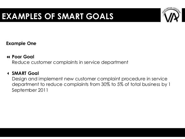 Image Result For Examples Of Smart Goals And Objectives