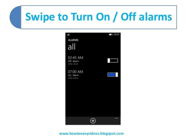 How to Set alarm in lumia 625, lumia 520, lumia 720, lumia 920, lumia…