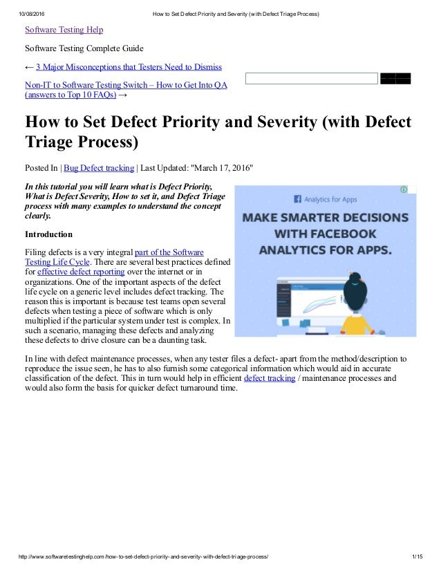 how to decide priority and severity
