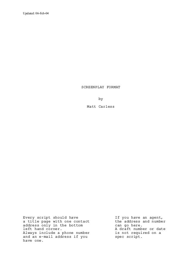 screenplay cover page format pike productoseb co