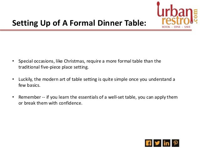 How To Set Up A Formal Dinner Table; 2.  sc 1 st  SlideShare & How to setup a formal dinner table