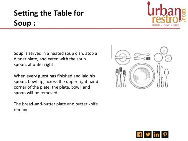 4. Setting the Table ...  sc 1 st  SlideShare & How To Set Up A Formal Dining Table - Urbanrestro.com