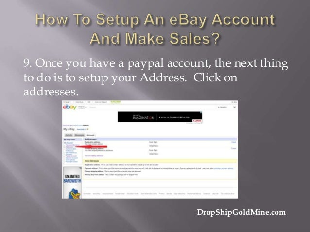 how to make an ebay seller account