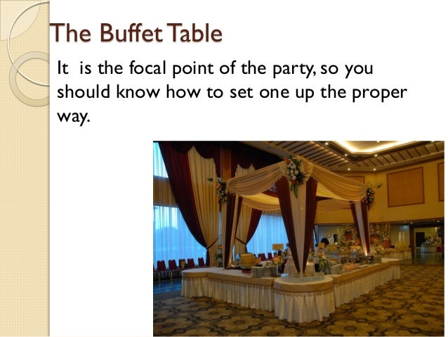 ... Elegant Buffet Table Setting By Anthony Franco; 2.
