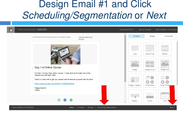 how to set up mail collection with mail chimp
