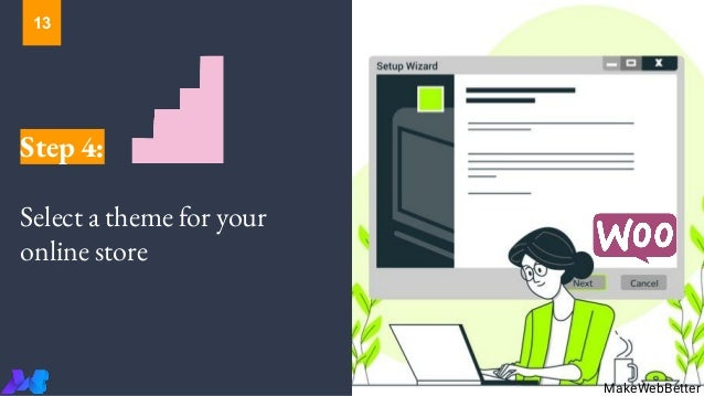 Step 4: Select a theme for your online store MakeWebBetter 13
