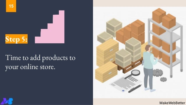 Step 5: Time to add products to your online store. MakeWebBetter 15