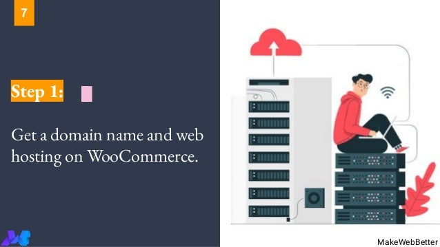 Step 1: Get a domain name and web hosting on WooCommerce. MakeWebBetter 7
