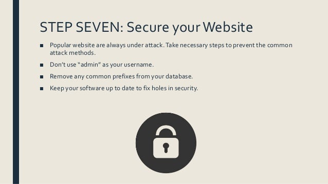 how to set up the website