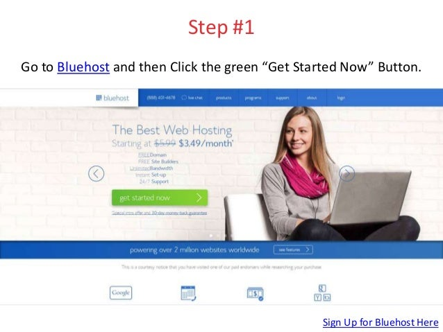 How to Set Up a Wordpress Website on Bluehost: Step-by-Step Slide 2