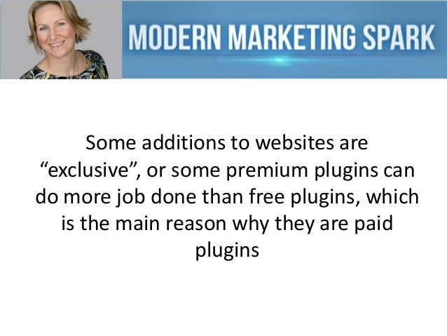 """Some additions to websites are """"exclusive"""", or some premium plugins can do more job done than free plugins, which is the m..."""